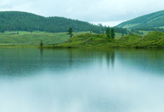 Lake rain hills Stock Image