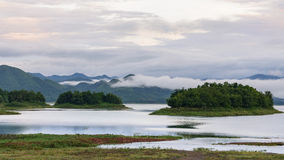 Lake after rain Royalty Free Stock Photos