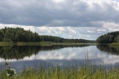 The lake before the rain stock image