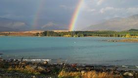Lake and rainbow Royalty Free Stock Photo