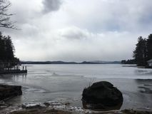 The lake. Rainy day on the Royalty Free Stock Photography