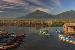 Lake. Rawa pening lake, central java, indonesia, southeast asi Royalty Free Stock Photo