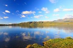 Lake reflection. At Te Anau, New Zealand Stock Photo