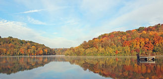 Lake reflection. Doe run lake in Northern Ky Stock Image