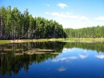 lake reflection Στοκ εικόνα με δικαίωμα ελεύθερης χρήσης