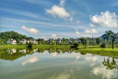 Darulaman Lake Reflection stock photo