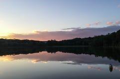 Lake Reflection at Dusk royalty free stock photos