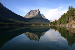 Lake reflection in Glacier National Park Stock Photography