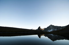 Lake reflection, Pemberton, British Columbia Stock Photography