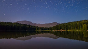 Lake with Reflection and Stars Stock Image