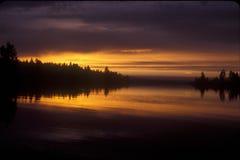 Lake Reflection Sunrise Stock Images
