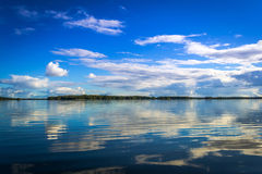 Lake reflection in Sweden Stock Image
