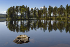 Lake with reflection Stock Photography