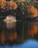 Lake reflections in fall Royalty Free Stock Images