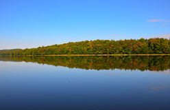 Lake reflections in the Adirondack Mountains Royalty Free Stock Photo