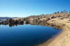 Lake Reflections. In Lake Jindabyne, Snowy Mountains Australia Royalty Free Stock Image
