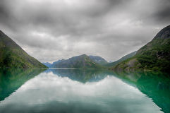 Lake reflections landscape in europe Stock Images