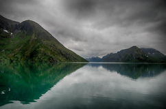 Lake reflections landscape in europe Stock Image