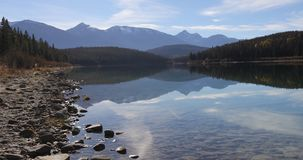 Lake reflections near Jasper in the Rocky Mountains 4K stock video