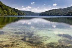 Lake reflections at plitvice. Beautiful lake landscape at plitvice, Croatia Royalty Free Stock Images
