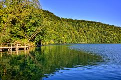 Lake with reflections, Plitvice National Park, Croatia Stock Photography