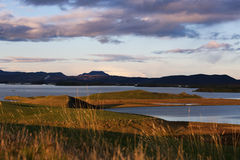 Lake region myvatn Royalty Free Stock Photo