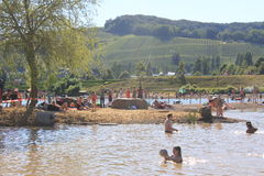 Lake in Remerchen Stock Image