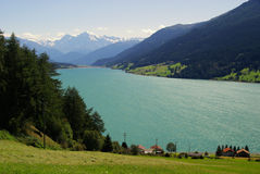 Lake Reschensee Stock Photo