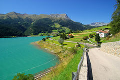 Lake Reschensee Royalty Free Stock Images