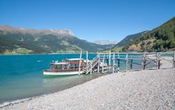 Lake Reschensee,south Tyrol,Italy Royalty Free Stock Photography