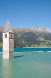 Lake Reschensee,south Tyrol,Italy Royalty Free Stock Image
