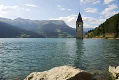 Lake Resia Stock Photo