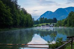 Lake resort in the Alps royalty free stock photos