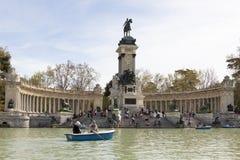 Lake in the Retiro Park, Madrid Royalty Free Stock Photography