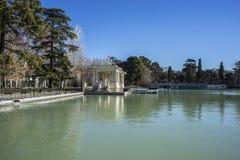 Lake in Retiro park, Madrid Spain. Nature Royalty Free Stock Image