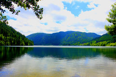 Lake of retournemer in vosges forest Royalty Free Stock Images