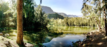 Lake reunion island Royalty Free Stock Photos