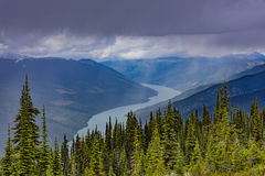 Lake Revelstoke from Mount Revelstoke British Columbia Canada Royalty Free Stock Images