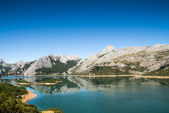 Lake in Riaño, Spain Stock Images
