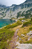 Lake Ribno on Mountain Pirin Stock Photos