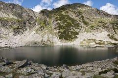 Lake in Rila stock photo