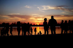 Lake of the rising sun Royalty Free Stock Image