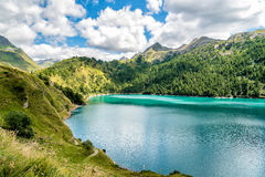 Lake Ritom on the Swiss Alps Stock Photography