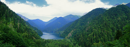 Lake Ritsa. 1200 metres above sea level. Abkhazia Royalty Free Stock Photography