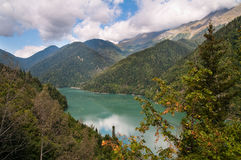Lake Ritsa. Abkhazia. Stock Images