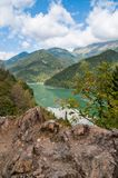 Lake Ritsa. Abkhazia. Stock Photo