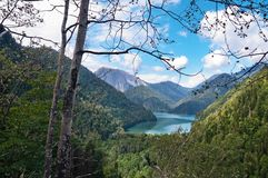 Lake Ritsa. Abkhazia. Royalty Free Stock Images