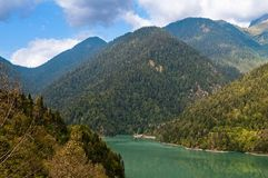 Lake Ritsa. Abkhazia. Royalty Free Stock Photography
