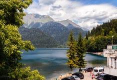 Lake Ritsa in Abkhazia Royalty Free Stock Image