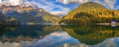 Lake Ritsa in Abkhazia Stock Photos